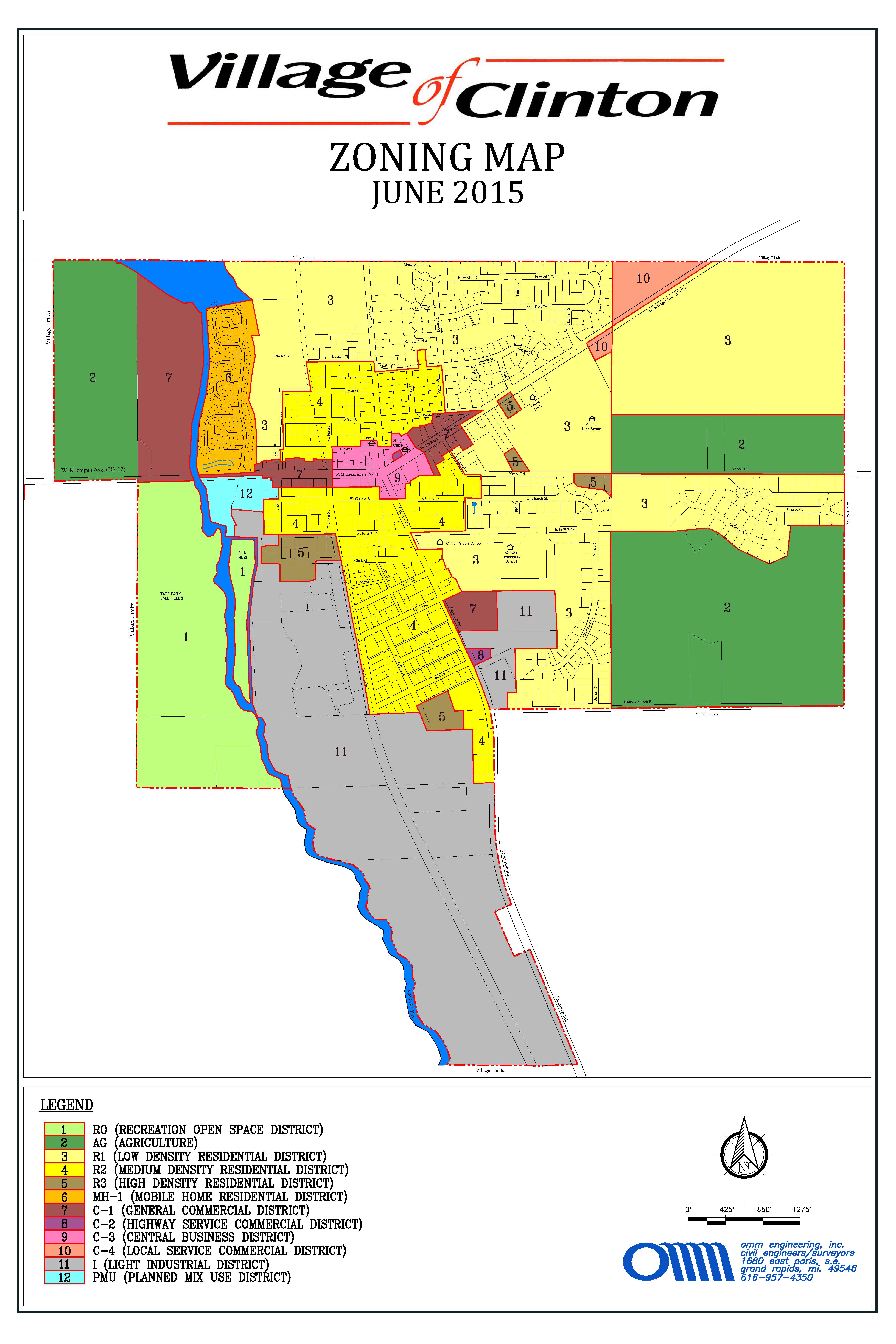 Clinton Zoning Map June 2015